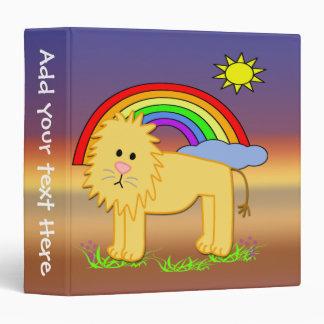 """Leroy el león 1,5"""" carpeta de los niños"""