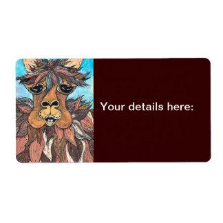 Leroy las etiquetas de la llama etiquetas de envío