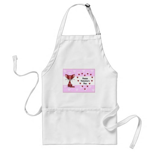 Leroy the Cat - Valentine's Day (Meet the Mews) Aprons