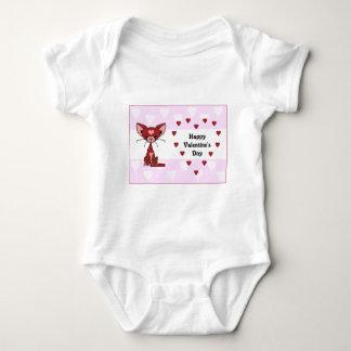 Leroy the Cat - Valentine's Day (Meet the Mews) Baby Bodysuit