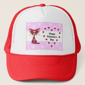 Leroy the Cat - Valentine's Day (Meet the Mews) Trucker Hat