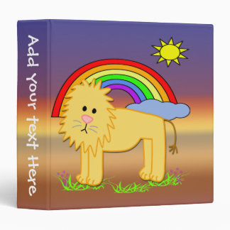 "Leroy the Lion  1.5"" Kids Binder"