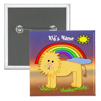 Leroy the Lion Cute Kid's Button