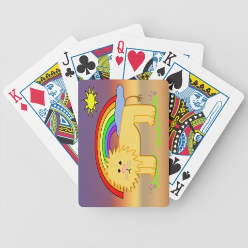 Leroy the Lion Cute Kid's Playing Cards