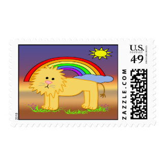 Leroy the Lion Cute Postage