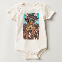 Leroy the Llama Baby Bodysuit