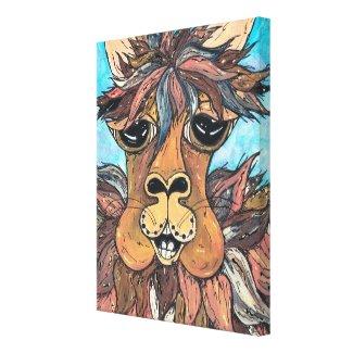Leroy the Llama wrappedcanvas
