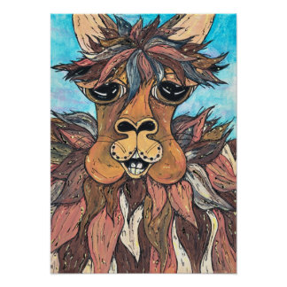 Leroy the Llama Print