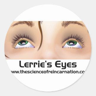 Lerrie'sEyes.pdf Classic Round Sticker