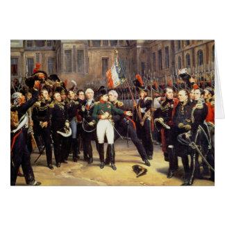 Les Adieux de Fontainebleau, 20th April 1814 Card