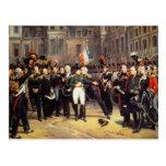 Les Adieux de Fontainebleau, el 20 de abril de 181 Postal