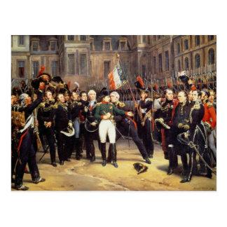 Les Adieux de Fontainebleau el 20 de abril de 181 Postal