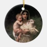 Les Agneaux fine art Ornaments
