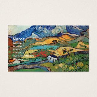 Les Alpilles (F724) Van Gogh Fine Art Business Card