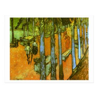 Les Alyscamps: Autumn Leaves, Vincent Van Gogh Postcard