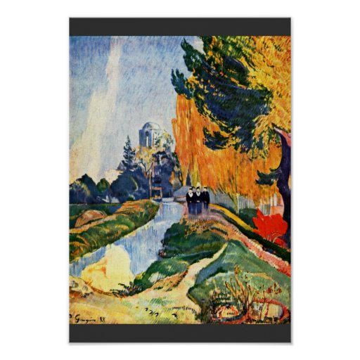 Les Alyscamps By Gauguin Paul (Best Quality) Print