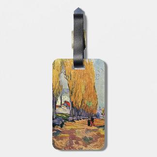 Les Alyscamps by Van Gogh. Autumn landscape Bag Tag