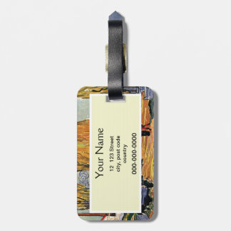 Les Alyscamps by Van Gogh. Autumn landscape Luggage Tag