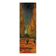 Les Alyscamps by Vincent van Gogh. Fall, autumn Business Card Template