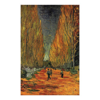 Les Alyscamps by Vincent van Gogh. Fall, autumn Full Color Flyer