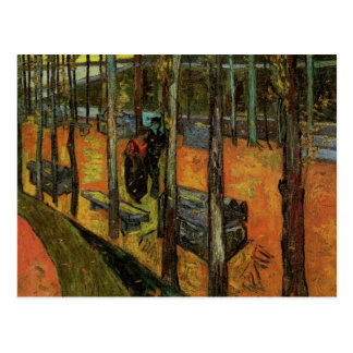 Les Alyscamps (Cemetery) by Vincent van Gogh Postcard