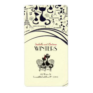 Les Aristochats Noirs - french passion Shipping Labels