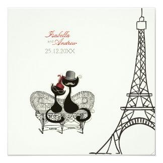"""Les Aristochats Noirs - pasión francesa 2 Invitación 5.25"""" X 5.25"""""""
