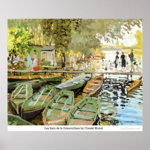 Les bain de la Grenouillere by Claude Monet Posters