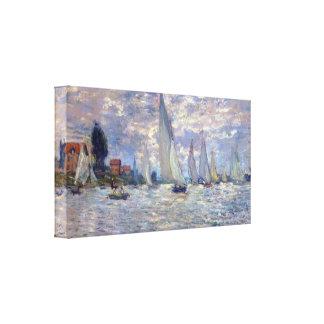 les Barques by Claude Monet Canvas Print