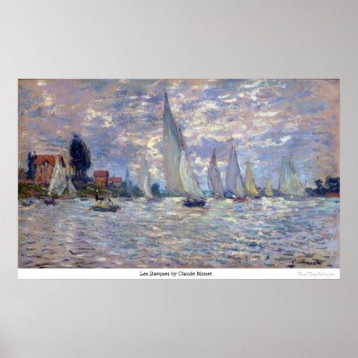 les Barques by Claude Monet Poster