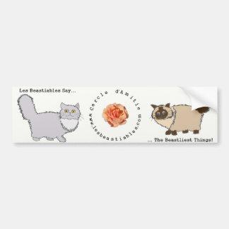 Les Beastiables Friendship Circle bumper sticker