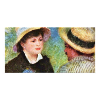 Les Canotiers By Pierre-Auguste Renoir Customized Photo Card
