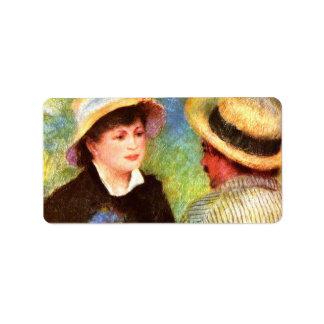 Les Canotiers de Pedro Renoir Etiqueta De Dirección