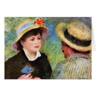 Les Canotiers de Pierre-Auguste Renoir Felicitación
