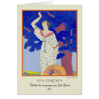Les Cerises Art Deco by Lepape Greeting Card