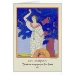 Les Cerises by Lepape Greeting Card