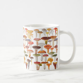 Les Champignons Mushrooms Classic White Coffee Mug