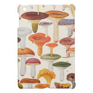 Les Champignons Mushrooms iPad Mini Cover