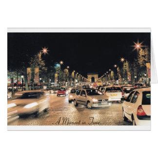 Les Champs-Elysées Paris A Moment in Time Card