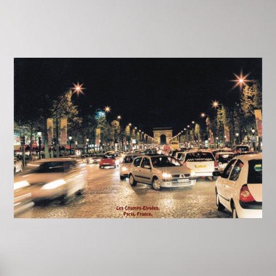 Les Champs-Elysées.  Paris, France Poster
