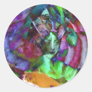 Les Charmeuses: Marie-Caroline Portrait Sticker
