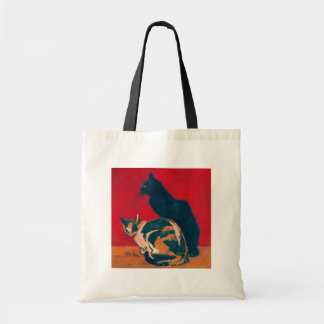 Les Chats by Theophile Steinlen Budget Tote Bag