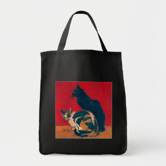 Les Chats by Theophile Steinlen Grocery Tote Bag
