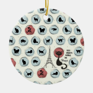Les Chats Noirs de Paris Ceramic Ornament