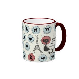 Les Chats Noirs de Paris Ringer Mug