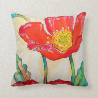 """Les Coquelicots"" by Susi Franco Throw Pillow"