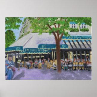 Les Deux Magots Cafe:PARIS poster