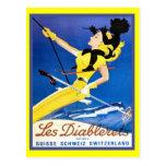 Les Diablerets, Suiza Tarjeta Postal