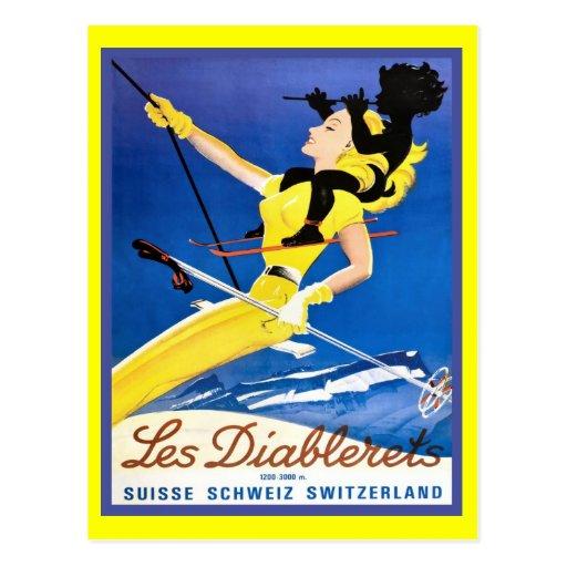 Les Diablerets, Switzerland Postcard