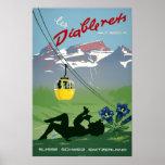 Les Diablerets,Switzerland, Vintage Travel Poster
